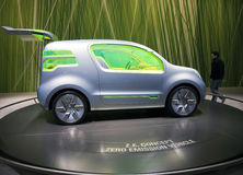 Genf Motorshow 2009 - Konzept Renault-Z.E. Lizenzfreies Stockbild