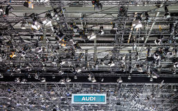 Genf Motorshow 2012 - Audi Fahne Stockfoto