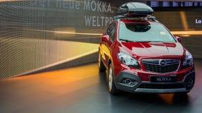 Genf Motorshow 2012 - neues Opel Mokka stockbilder