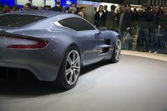 Genf Motorshow - Aston Martin einer 77 Lizenzfreies Stockbild