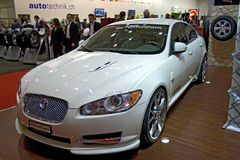 Genf-Selbstsalon Jaguar 2009 Stockfotografie