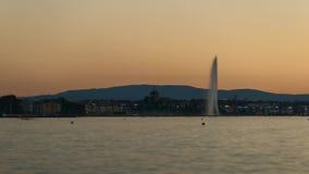 Genf-Skyline timelapse stock footage