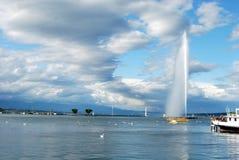 Genf und Strahl d'Eau Lizenzfreie Stockbilder