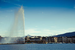 Genf Wasserstrahl Stockbild