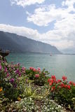 Genfersee. Montreux. stockfotos