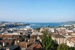 Genfs Panorama Lizenzfreie Stockfotos