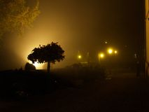 Gengenbach cemetery ii. Gengenbach cemetery by night Royalty Free Stock Images