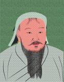 Genghis μεγάλο Khan Στοκ εικόνα με δικαίωμα ελεύθερης χρήσης