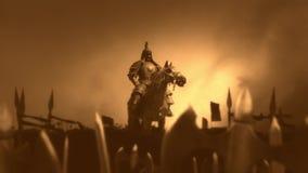 Genghis Khan με το στρατό του πριν από ή μετά από μια μάχη διανυσματική απεικόνιση