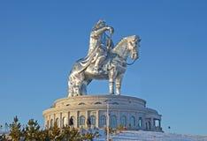 Genghis Khan Equestrian Statue fotografia stock