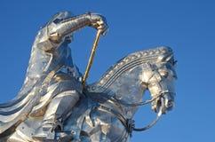 Genghis Khan Equestrian Statue immagini stock