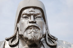 Genghis Khan Equestrian Statue - la Mongolia immagini stock