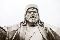 Genghis Khan Equestrian Statue. The Genghis Khan Equestrian Statue is a 40 metre tall statue of Genghis Khan on horseback at Tsonjin Boldog near Ulaanbaatar Royalty Free Stock Photography