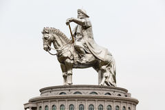 Genghis Khan Equestrian Statue. The Genghis Khan Equestrian Statue is a 40 metre tall statue of Genghis Khan on horseback at Tsonjin Boldog near Ulaanbaatar Stock Photography