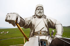 Genghis Khan Equestrian Statue. The Genghis Khan Equestrian Statue is a 40 metre tall statue of Genghis Khan on horseback at Tsonjin Boldog near Ulaanbaatar Royalty Free Stock Photo