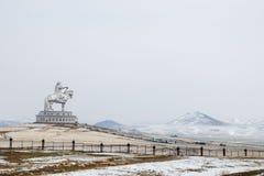 Genghis Khan Equestrian Statue - Mongoliet fotografering för bildbyråer