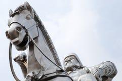 Genghis Khan Equestrian Statue - Mongoliet royaltyfria bilder
