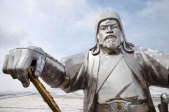 Genghis Khan Equestrian Statue - Mongoliet royaltyfri foto