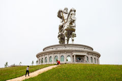 Genghis Khan Equestrian Statue. ULAANBAATAR, MONGOLIA - JULY 13, 2016: The Genghis Khan Equestrian Statue is a 40 metre tall statue of Genghis Khan on horseback Stock Photos