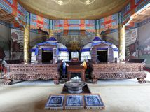 Genghis khan mausoleum binnen, rgb adobe royalty-vrije stock foto's
