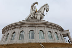 Genghis Khan sculpture on museum Stock Photo