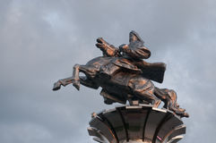 Genghis Khan statue. In July 2009, China's Inner Mongolia Hulunbeir Royalty Free Stock Image