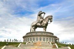 Genghis Khan Statue Complex bei Tsonjin Boldogeast des mongolischen Haupt-Ulaanbaatar Stockfoto