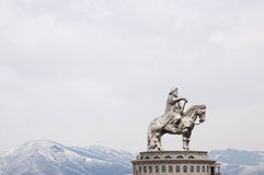 Genghis Khan statue - Mongolia Royalty Free Stock Image