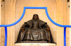 Genghis Khan Statue, Sukhbaatar Square Royalty Free Stock Images