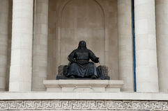 Genghis Khan Statue - Ulaanbaatar - Mongoliet arkivbild