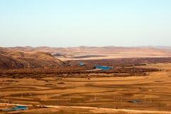 Genhe-Fluss-Sumpfgebiete Stockfotos