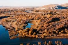 Genhe-Fluss-Sumpfgebiete Stockbilder