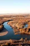 Genhe-Fluss-Sumpfgebiete Stockfoto