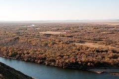 Genhe River Wetlands. The hulunbuir prairie river wetland of Genhe Stock Images