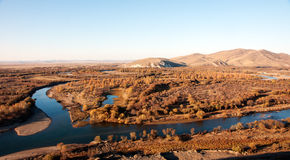 Genhe River Wetlands. The hulunbuir prairie river wetland of Genhe Royalty Free Stock Image