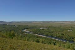 Genhe-Sumpfgebiet von Innere Mongolei lizenzfreies stockbild