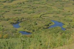 Genhe-Sumpfgebiet von Innere Mongolei stockbilder