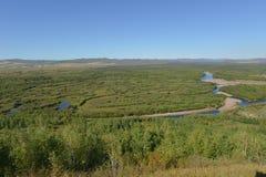 Genhe-Sumpfgebiet von Innere Mongolei lizenzfreie stockfotografie
