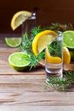 Genièvre avec le citron images libres de droits