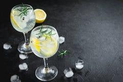 Genièvre et cocktail de tonique photographie stock libre de droits