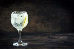 Genièvre et cocktail de tonique images stock