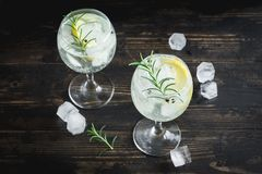 Genièvre et cocktail de tonique photos stock
