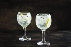 Genièvre et cocktail de tonique photos libres de droits