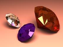 genialna diamentowy biżuteria royalty ilustracja