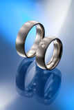 genialni rżnięci diamenty dobierać do pary pierścionków target5049_1_ Zdjęcia Royalty Free