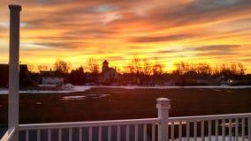 genialny wschód słońca Zdjęcia Royalty Free