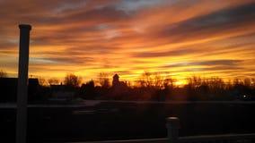 genialny wschód słońca Obrazy Royalty Free