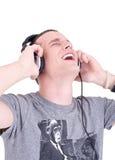 Genießen der Musik Lizenzfreies Stockbild