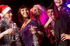 Genießen der Party Stockfoto