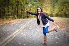 Genießen des Herbstes lizenzfreie stockfotos
